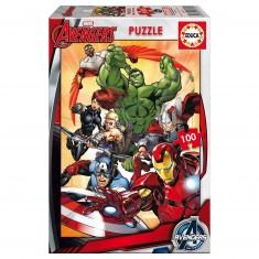 Puzzle 100 pièces : Avengers 2