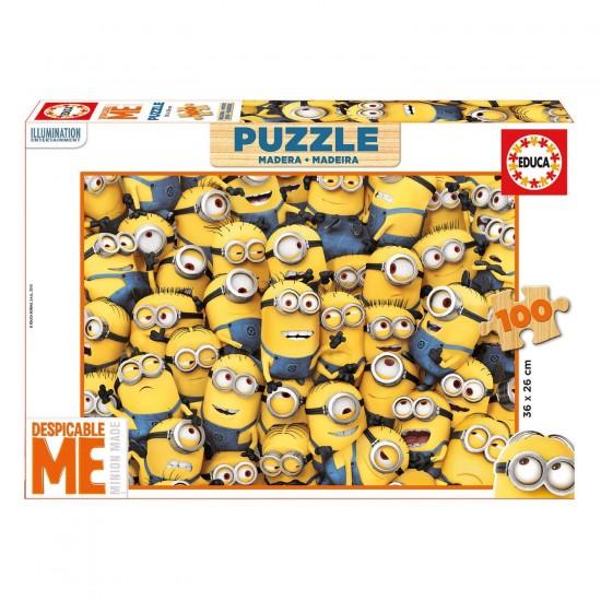 Puzzle 100 pièces en bois : Minions - Educa-16528