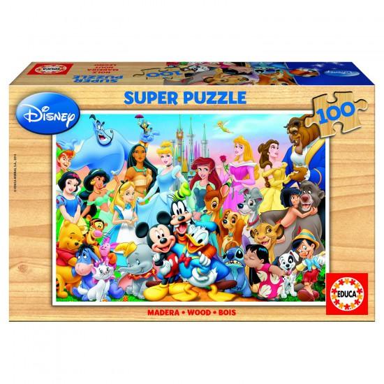 Puzzle 100 pièces - La famille de Disney - Educa-12002