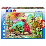 Puzzle 100 pièces - Les Dinosaures