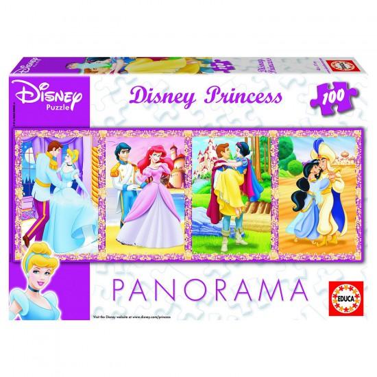 Puzzle 100 pièces panoramique - Princesses Disney - Educa-13500