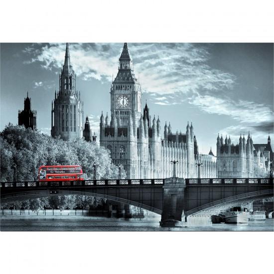Puzzle 1000 pièces - Collection Black & White : Bus londonien - Educa-15180