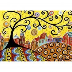 Puzzle 1000 pièces : Blooming Village, Karla Gerard