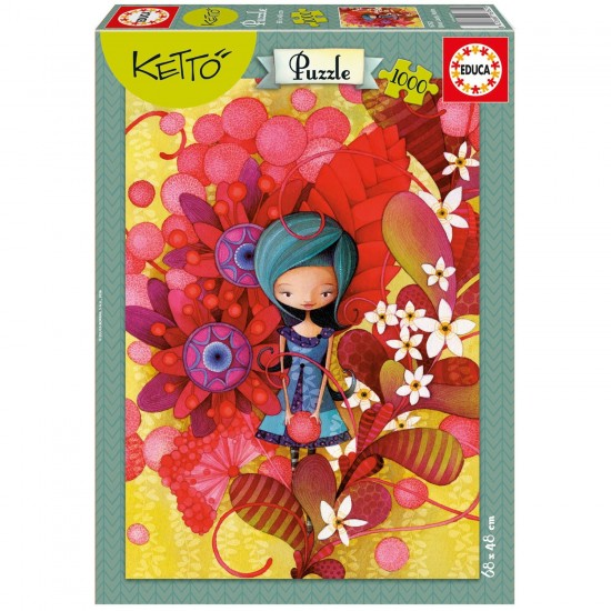 Puzzle 1000 pièces : Blue Lady, Ketto - Educa-16762