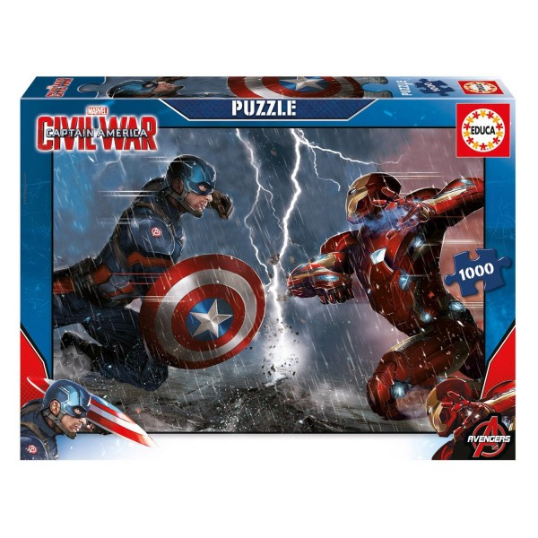 Puzzle 1000 pièces : Captain America, Civil War - Educa-16703
