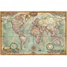 Puzzle 1000 pièces : Carte politique