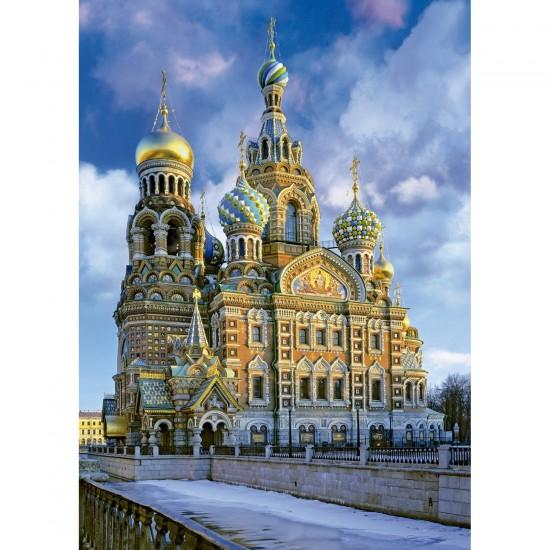 Puzzle 1000 pièces : Cathédrale de la Résurrection, Saint Pétersbourg - Educa-16289