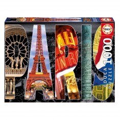 Puzzle 1000 pièces : Collage de Paris