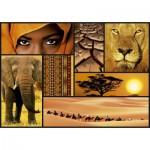 Puzzle 1000 pièces : Collage Sensations : Couleurs d'Afrique