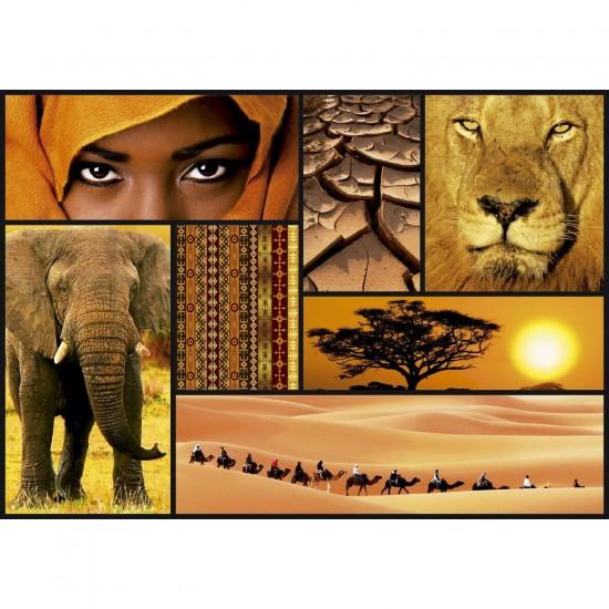 Puzzle 1000 pièces : Collage Sensations : Couleurs d'Afrique - Educa-16293