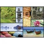 Puzzle 1000 pièces : Collage Sensations : Couleurs d'Asie