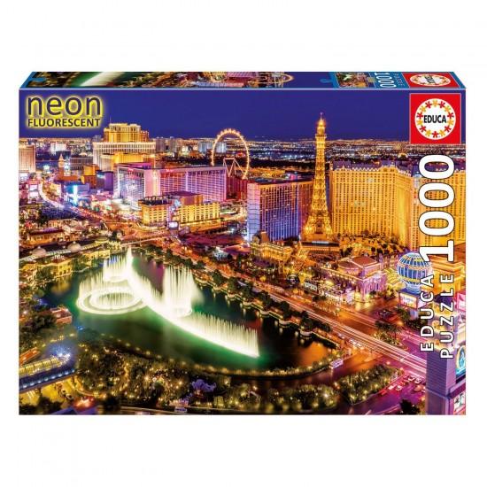 Puzzle 1000 pièces : Las Vegas fluorescent - Educa-16761