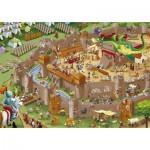 Puzzle 1000 pièces : Les histoires de l'histoire : Moyen-Âge