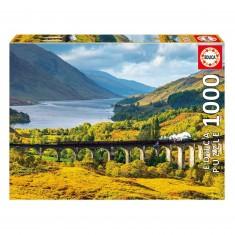 Puzzle 1000 pièces : Viaduc de Glenfinnan, Ecosse