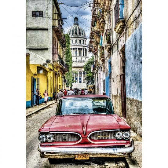 Puzzle 1000 pièces : Voiture Vintage à la Havane - Educa-16754