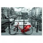 Puzzle 1000 pièces - Le canal, Amsterdam, Hollande