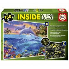 Puzzle 150 pièces : Inside Vision : Monde marin