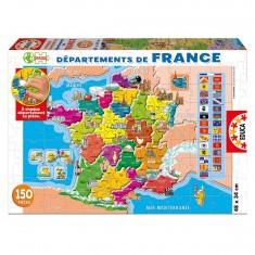 Puzzle 150 pièces - Départements de la France