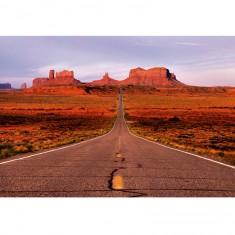 Puzzle 1500 pièces : Carretera de Monument Valley