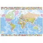 Puzzle 1500 pièces : Carte du monde