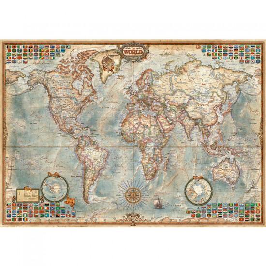 Puzzle 1500 pièces : Le monde, carte politique - Educa-16005