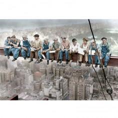 Puzzle 1500 pièces : Lunch sur un gratte-ciel