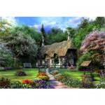Puzzle 1500 pièces Dominique Davidson : La maison aux roses