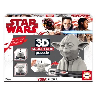 Puzzle 160 pièces : Sculpture 3D Yoda - Educa-16501