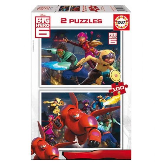 Puzzle 2 x 100 pièces : Big Hero 6 - Educa-16337