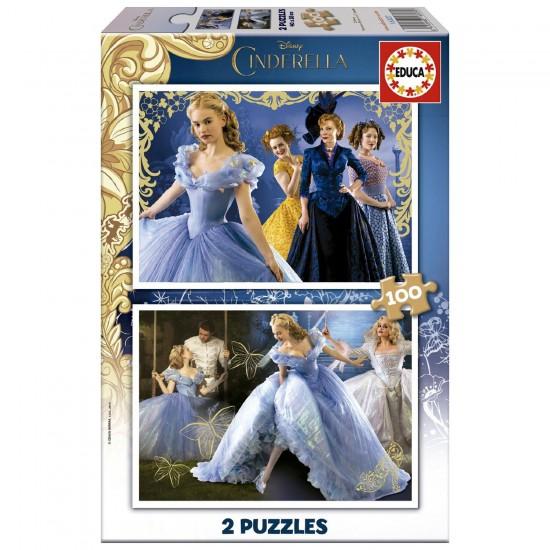 Puzzle 2 x 100 pièces : Cendrillon, le Film - Educa-16327