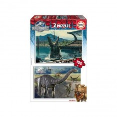 Puzzle 2 x 100 pièces : Jurassic World