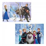 Puzzle 2 x 100 pièces : La Reine des Neiges (Frozen)