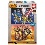 Puzzle 2 x 100 pièces : Star Wars Rebels