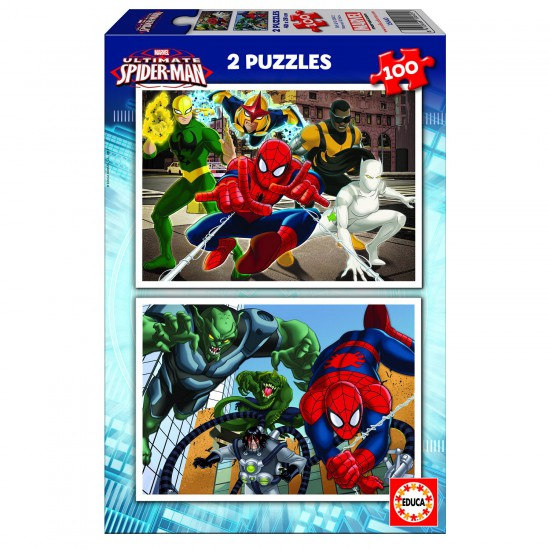 Puzzle 2 x 100 pièces : Ultimate Spider-Man - Educa-15640