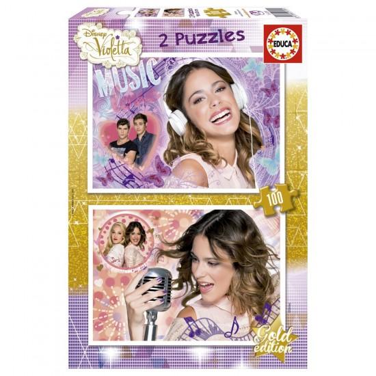Puzzle 2 x 100 pièces : Violetta - Educa-16189
