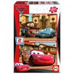 Puzzle 2 x 20 pièces - Cars 2 : Flash McQueen, Martin et Finn McMissile