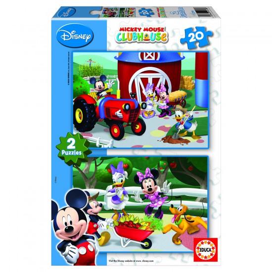 Puzzle 2 x 20 pièces - Mickey et ses amis : La maison de Mickey - Educa-15290