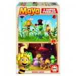 Puzzle 2 x 25 pièces - Puzzle en bois : Maya l'abeille