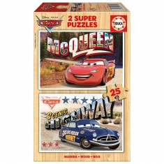 Puzzle 2 x 25 pièces : Cars