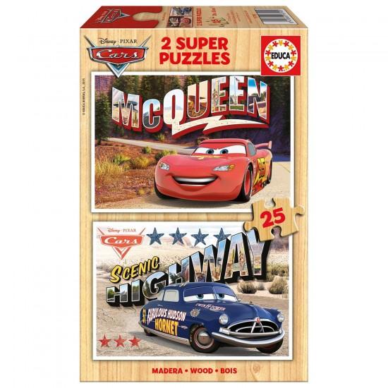 Puzzle 2 x 25 pièces : Cars - Educa-16799