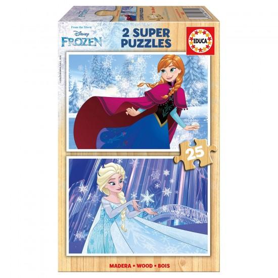 Puzzle 2 x 25 pièces : La Reine des Neiges (Frozen) - Educa-16801