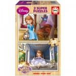 Puzzle 2 x 25 pièces en bois : Princesse Sofia