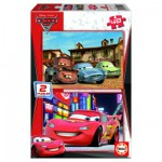 Puzzle 2 x 48 pièces - Cars 2 : Piston Cup et Radiator Springs