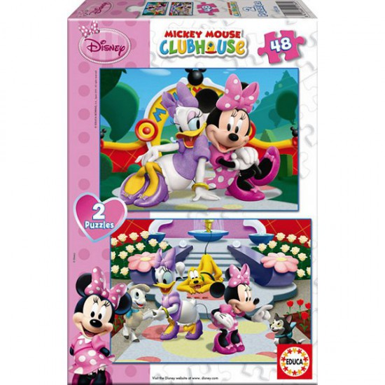Puzzle 2 x 48 pièces - Mickey et ses amis : Minnie - Educa-15136