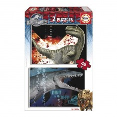 Puzzle 2 x 48 pièces : Jurassic World