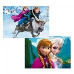 Puzzle 2 x 48 pièces : La Reine des Neiges (Frozen)