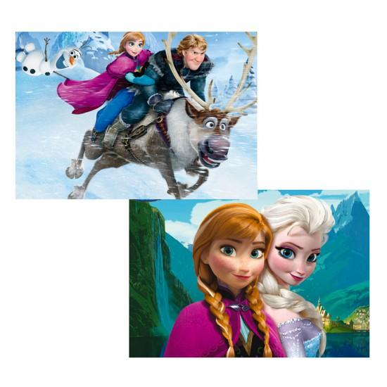 Puzzle 2 x 48 pièces : La Reine des Neiges (Frozen) - Educa-15768