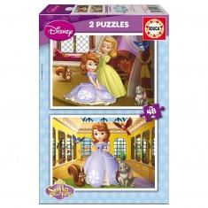 Puzzle 2 x 48 pièces : Princesse Sofia