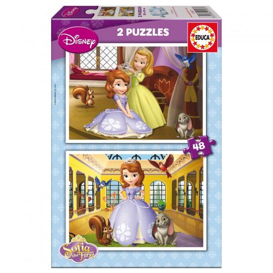 Puzzle 2 x 48 pièces : Princesse Sofia - Educa-15927