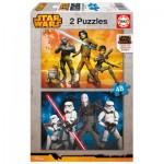 Puzzle 2 x 48 pièces : Star Wars Rebels